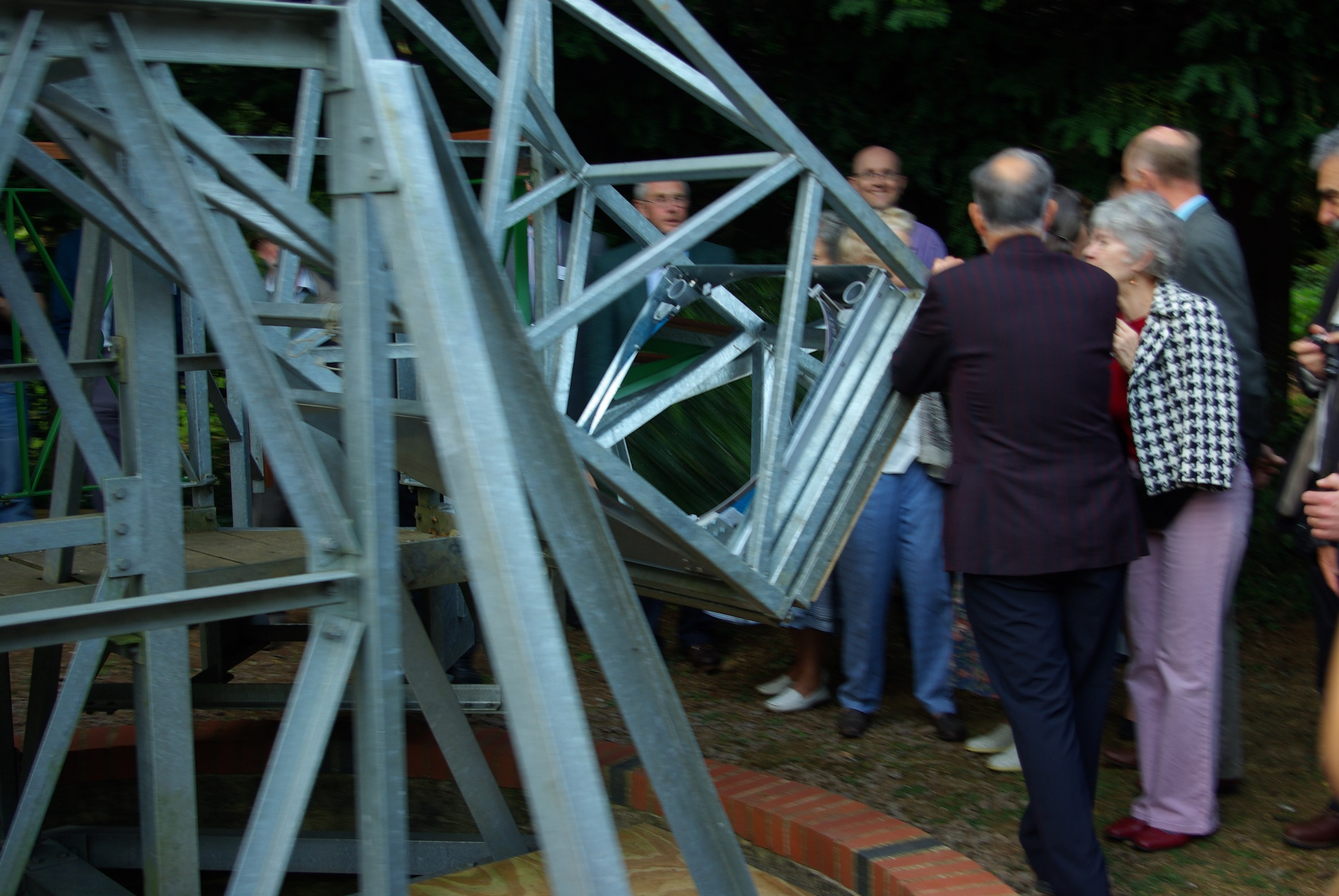 "The 30"" mirror (before the improvements) at the formal opening of the Millennium Telescope"
